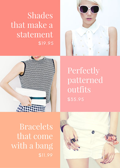 Pink and Orange Clothing Store Flyer - Templates by Canva
