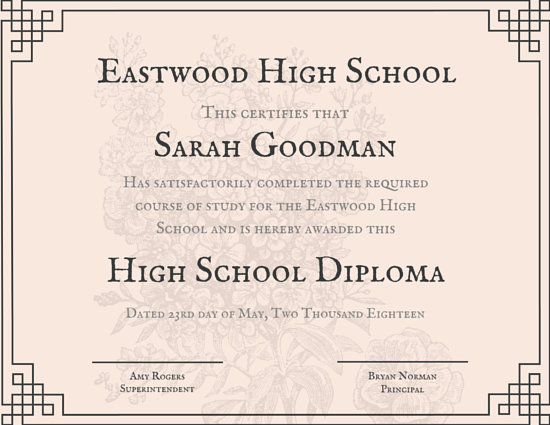 High School Diploma Certificate Templates - Canva - school certificate templates