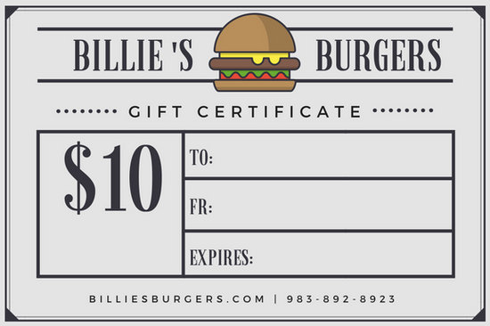 Burger Newspaper Style Restaurant Gift Certificate - Templates by Canva