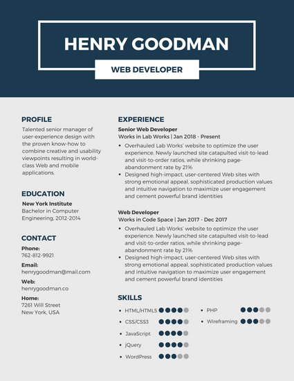 Customize 298+ Professional Resume templates online - Canva - professional resume 2018