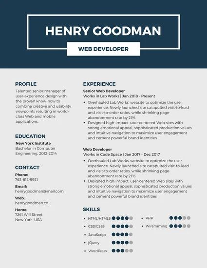 resume templates for freshers canva