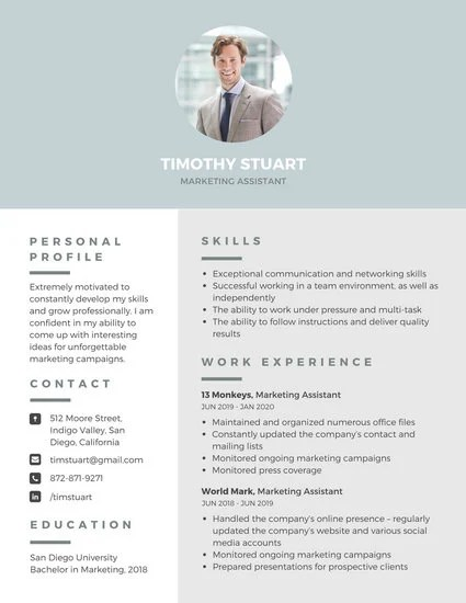 Customize 298+ Professional Resume templates online - Canva - templates of resumes
