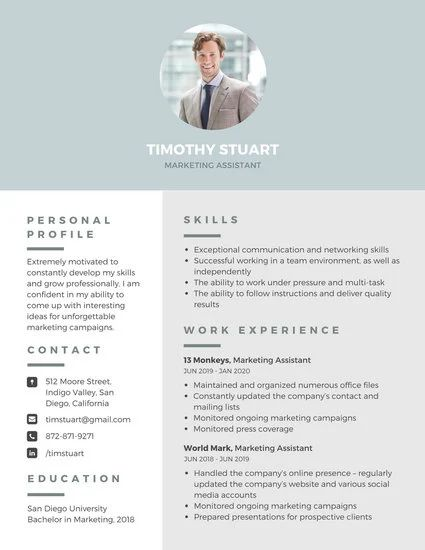 canva template cv