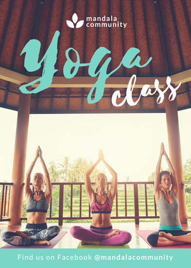 Mint Yoga Fitness Flyer - Templates by Canva - yoga flyer