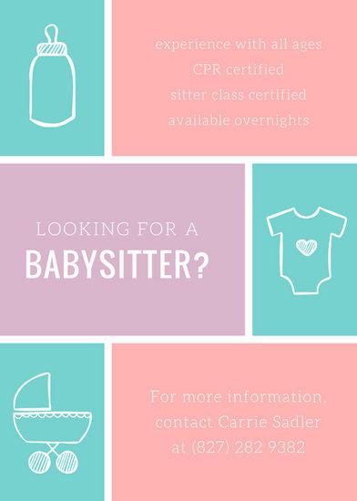 babysitter poster ideas