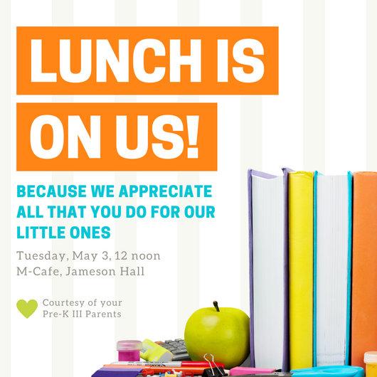 Lunch Books Teacher Appreciation Invitation - Templates by Canva