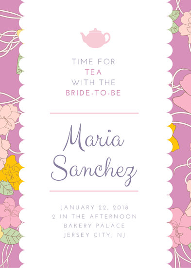 Tea Party Invitation Templates - Canva - tea party invitation