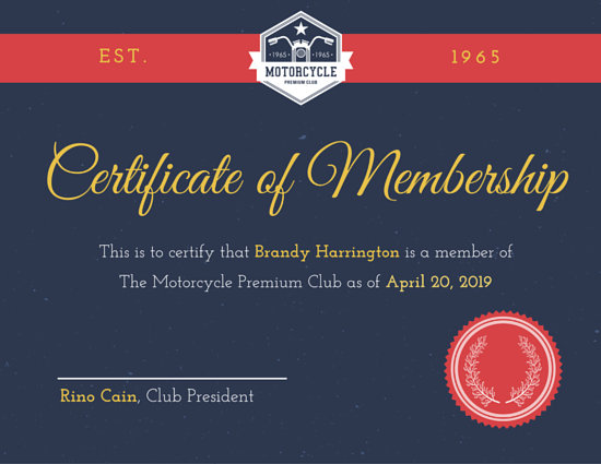 Customize 64+ Membership Certificate templates online - Canva - membership certificate templates