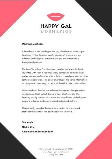 Business Letterhead Templates - Canva - business letterhead