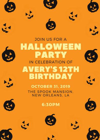 Halloween Party Invitation Templates - Canva - halloween invitation template