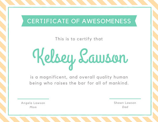 Customize 46+ Funny Certificate templates online - Canva - Silly Certificates Awards Templates
