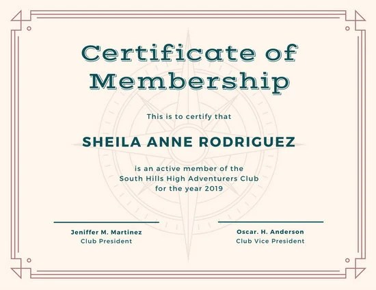 Customize 64+ Membership Certificate templates online - Canva - membership certificate templates