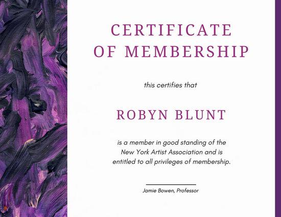Customize 64+ Membership Certificate templates online - Canva - membership certificate template