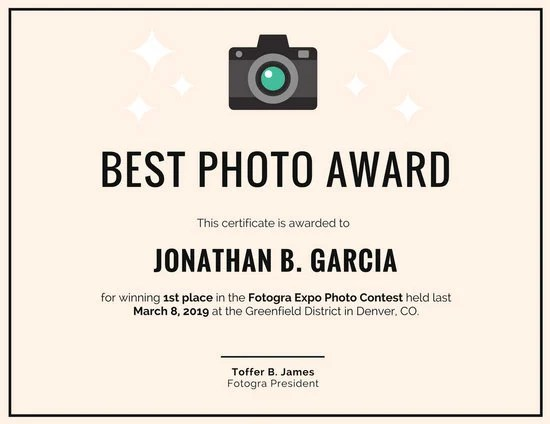 Customize 534+ Award Certificate templates online - Canva - best of free funny employee awards printable certificates