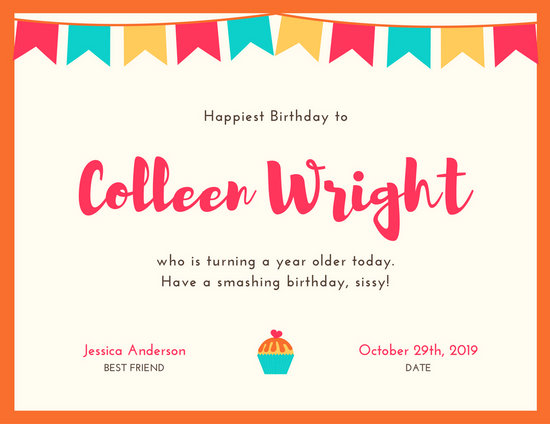 Customize 173+ Birthday Certificate templates online - Canva