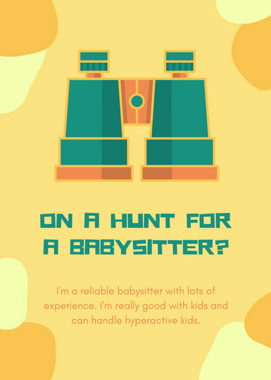 Customize 57+ Babysitting Flyer templates online - Canva - the babysitter online free