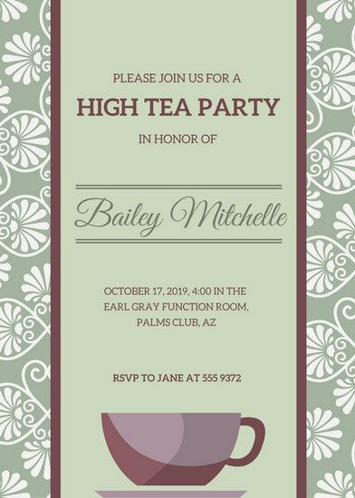 Customize 3,999+ Tea Party Invitation templates online - Canva