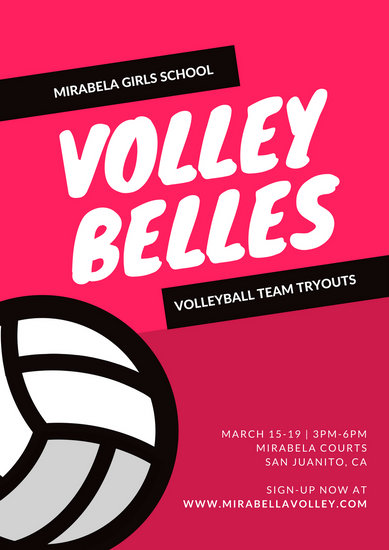 Customize 31+ Volleyball Poster templates online - Canva