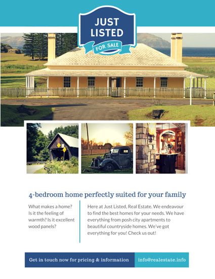 Countryside Home Real Estate Flyer - Templates by Canva - home for sale brochure
