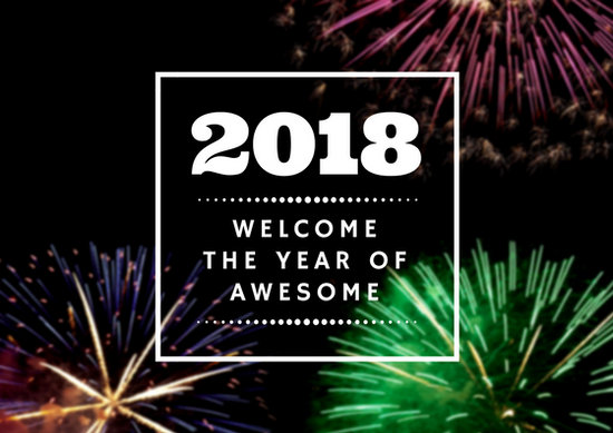Fireworks New Year Card - Templates by Canva