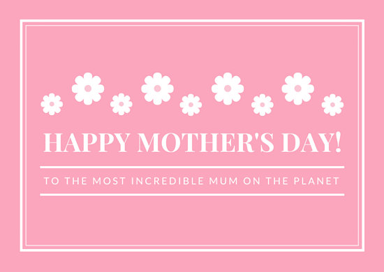 Pink Mother\u0027s Day Greeting Card - Templates by Canva - mothers day card template