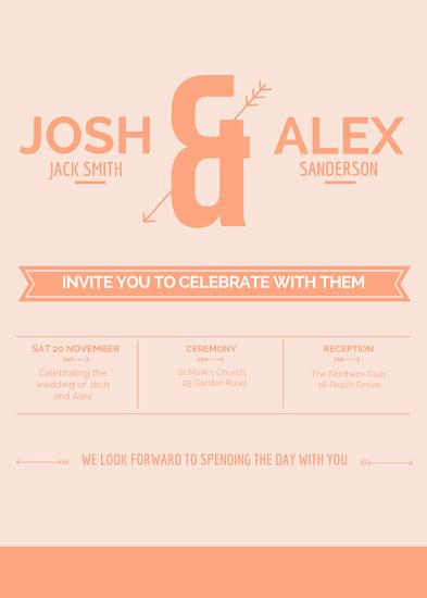 Customize 1,381+ Wedding Invitation templates online - Canva - wedding card designing