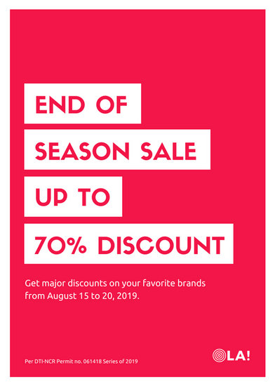 End of Season Sale Flyer Layout - Templates by Canva