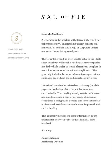 Classic Corporate Letterhead - Templates by Canva - corporate letterhead template