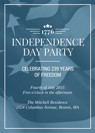Flag Independence Day Party Invitation - Templates by Canva - Corporate Party Invitation Template