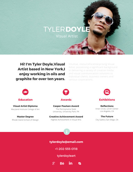 Established Visual Artist Resume - Templates by Canva - visual resume templates