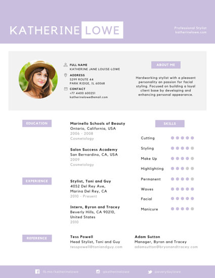 Appealing Professional Stylist Resume - Templates by Canva - attractive resume template