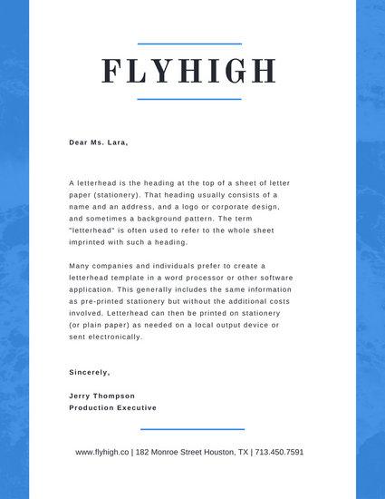 Blue Waves Professional Letterhead - Templates by Canva - professional letterhead