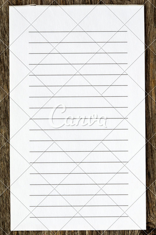 Blank Lined Paper - Photos by Canva
