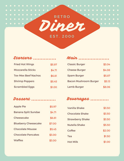 How to design a restaurant menu for both style and function \u2013 Learn