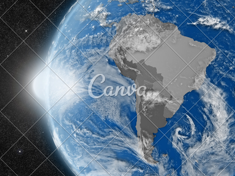 South American Continent from Space - Photos by Canva