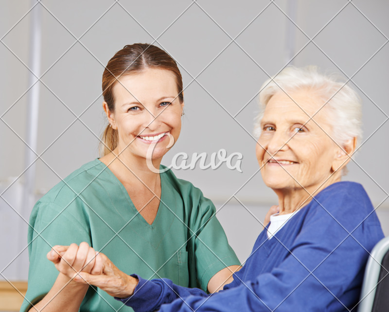 Old Woman with Geriatric Nurse in Nursing Home - Photos by Canva