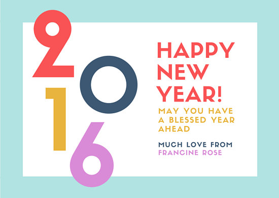 Colorful New Year Greeting Card - Templates by Canva