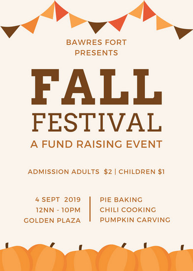 Fall Festival Flyer - Templates by Canva - fall flyer