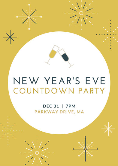 Sparkly New Years Party Flyer - Templates by Canva - new years party flyer