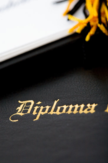 Diploma Focus on Embossed Diploma Wording - Photos by Canva - Diploma Wording