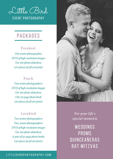 Event Photography Services Flyer - Templates by Canva - Photography Flyer
