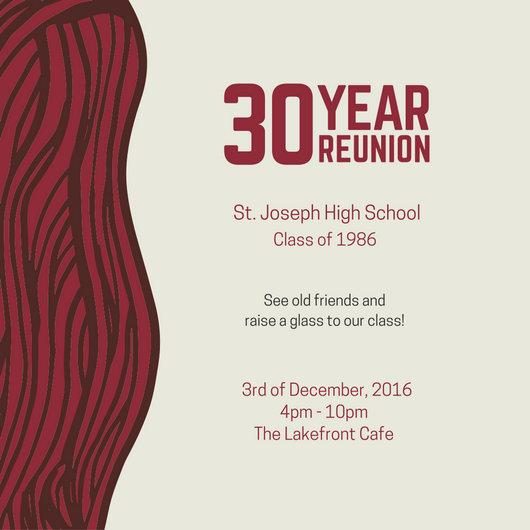 Class Reunion Invitation - Templates by Canva - class reunion invitation template