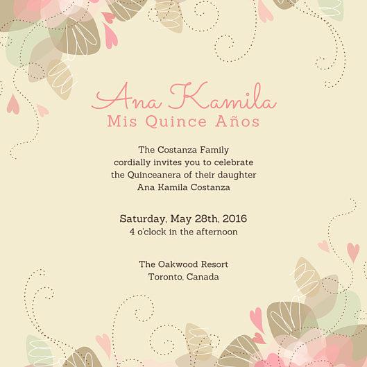 Customize 45+ Quinceanera Invitation templates online - Canva