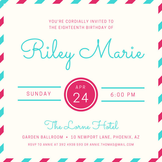 Customize 2,043+ Birthday Invitation templates online - Canva - format for birthday invitation