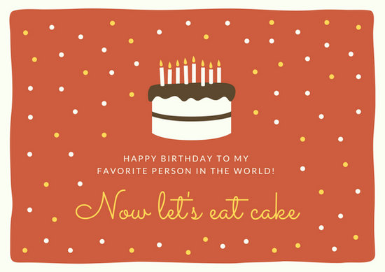 Birthday Cake Card - Templates by Canva - birthday cake card template