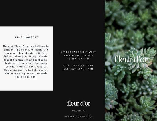 Wellness Spa Brochure - Templates by Canva - spa brochure