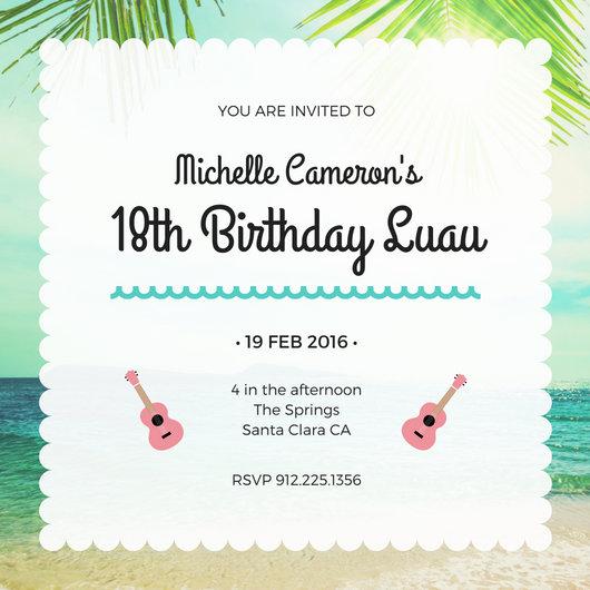 Customize 102+ Luau Invitation templates online - Canva - birthday itinerary template