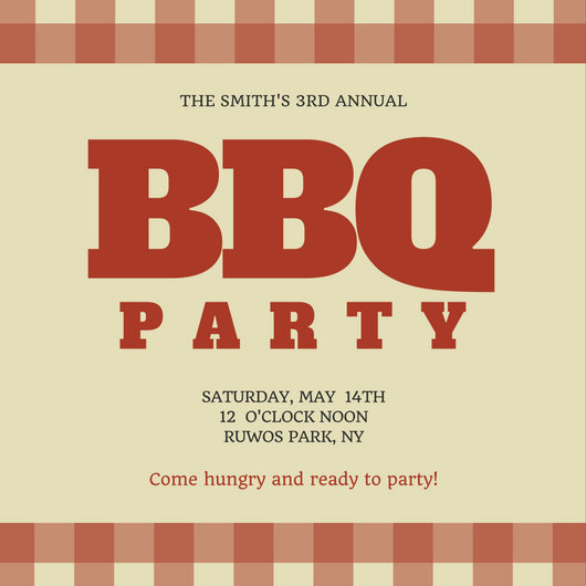 Family BBQ Reunion Invitation - Templates by Canva - bbq invitation template