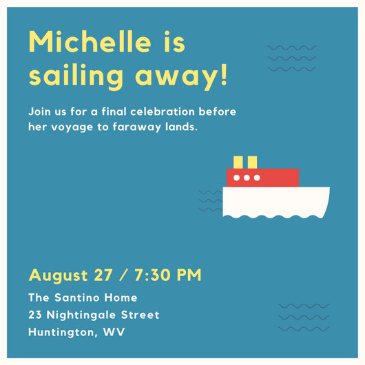 Boat Going Away Party Invitation - Templates by Canva