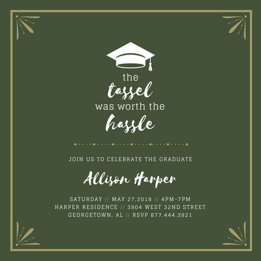 Customize 90+ Graduation Invitation templates online - Canva - graduation party invitations